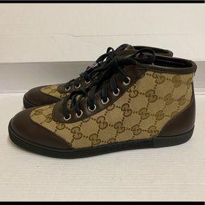 Gucci GG logo high top sneakers, 35